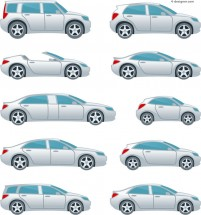Creative cartoon car vector material