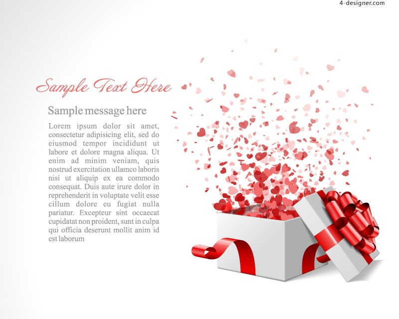 Creative gift of love background vector material
