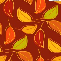 Creative leaves background vector material