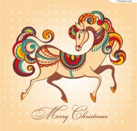 Creative painted horse vector material