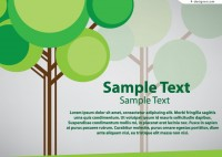 Creative trees background vector material