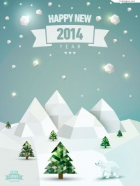 Creative winter snow poster vector material