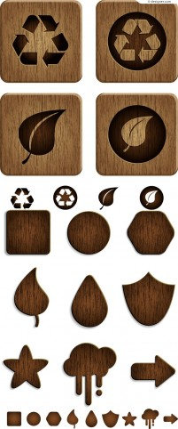 Creative wood signs vector material