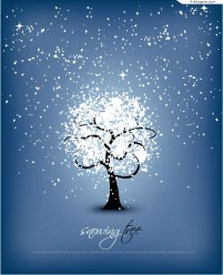 Crystal snowflake tree vector material
