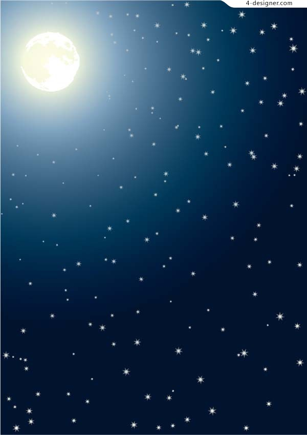 Deep night sky vector material