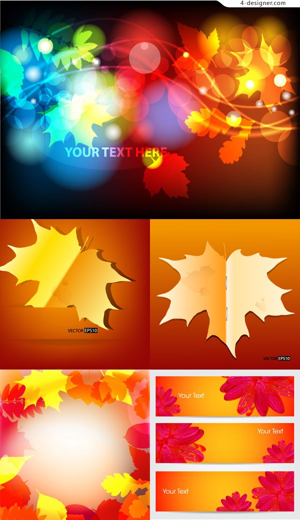 Dynamic Maple background vector material