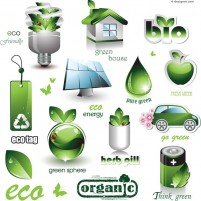 Energy saving Eco icon vector material