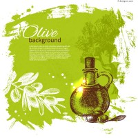 European olive background vector material