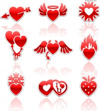 Exquisite Valentine s Day icon vector material