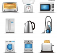 Exquisite appliance vector material