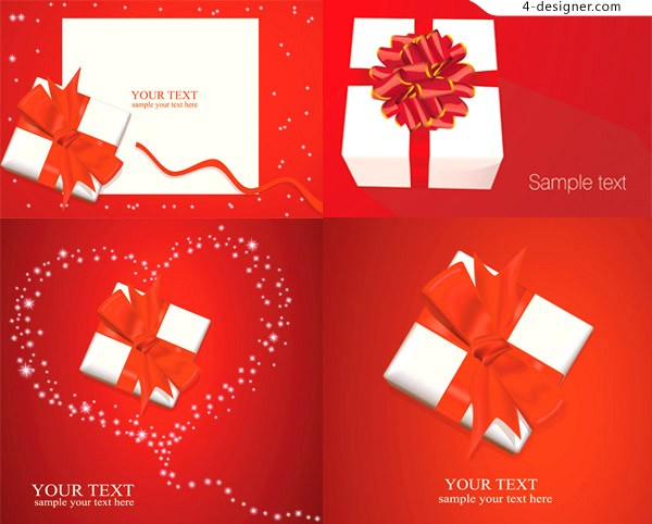 Exquisite gift ribbon vector material