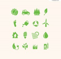 Exquisite green icon vector material
