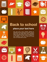 Exquisite learning tools background vector material