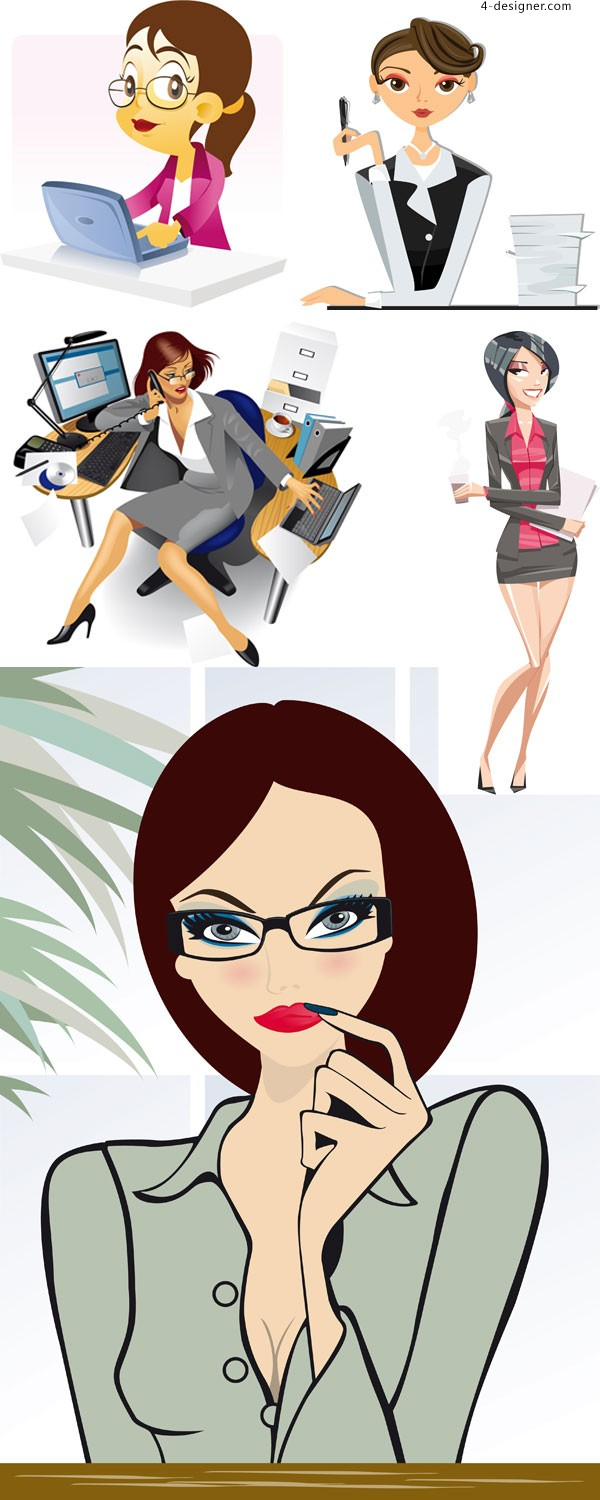 Fashion OL vector material