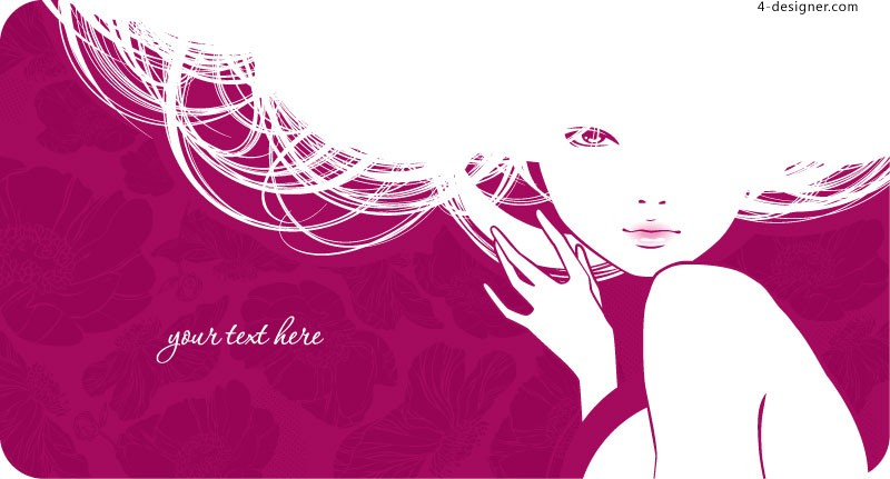 Fashion girl vector material