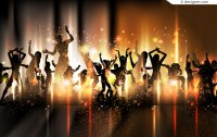 Fashion party background vector material