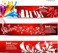 Fashionable 3D banner vector material