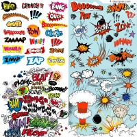 Fashionable comic element vector material