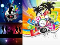 Fashionable music vector background material