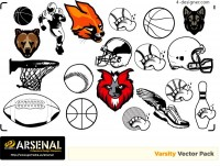 Fashionable sport element vector material