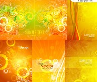 Fashionable yellow figure background vector material