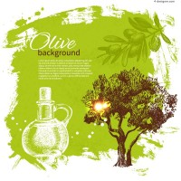 Fine olive background vector material