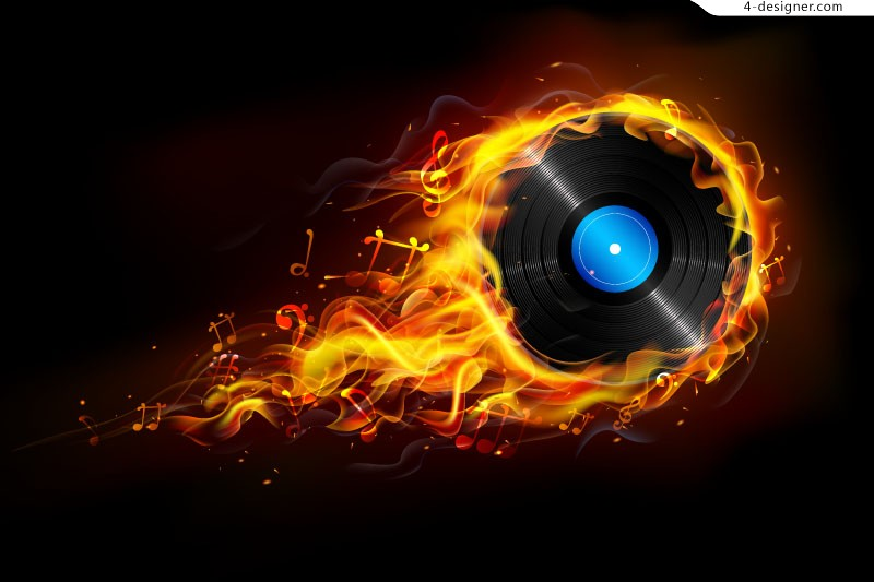 Fire record vector material