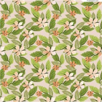 Floral background with leaves vector material