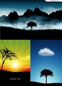 Fog and Mountain vector material