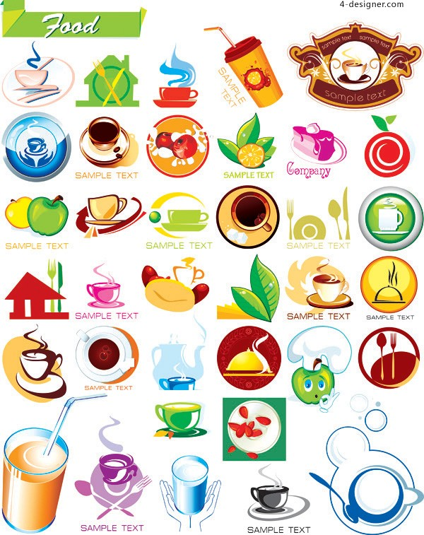 Food and drink icon vector material