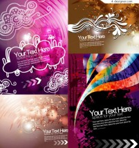 Four fashionable background vector materials