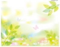 Fresh spring scenery vector material