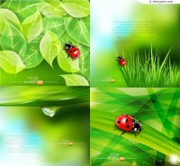 Green nature background vector material