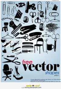 Haircut sundries silhouette vector material
