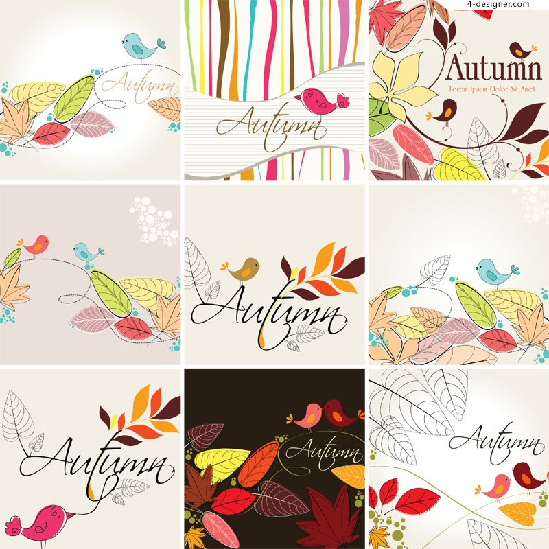 Hand painted bird illustrator vector material
