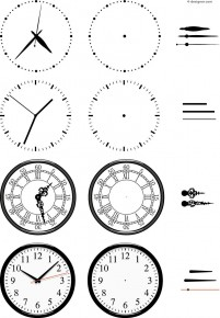 Hand painted clock dial vector material