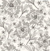 Hand painted flowers design background vector material