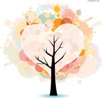 Ink brushing Giving Tree vector material