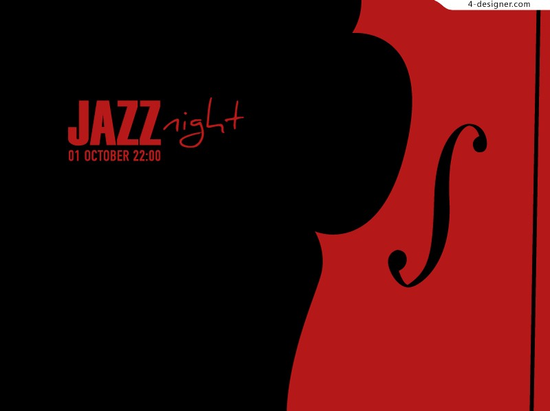 Jazz Night background vector material