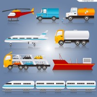 Long distance transport vehicles vector material