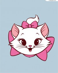 Lovely Mary cat vector material