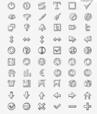 Lovely hand painted icon vector material
