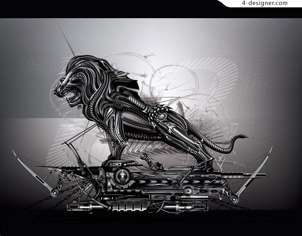 Metal lion vector material