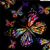 Neon butterfly illustrator vector material
