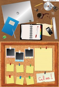Office stationery vector material