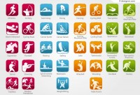 Olympic Games icon vector material