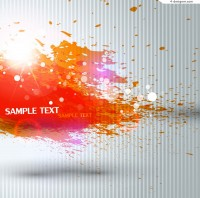 Orange Inkjet background vector material