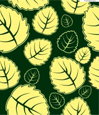 Ovate leaves background vector material