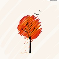 Painted autumn illustrator vector material