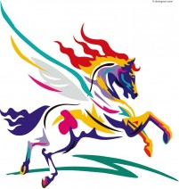 Painted horse vector material